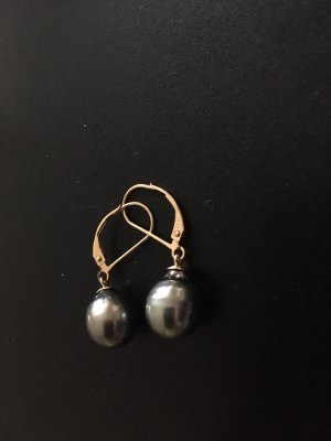 Boucles d'oreille en or gris anthracite