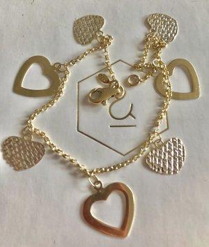 Echtgold Charm Bracelet gold-colored