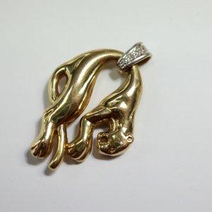 585 gold Brillant Panther puma Anhänger Goldanhänger diamant 14k