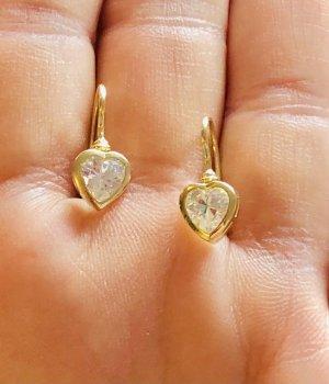 Echtgold Pendientes de oro color oro-blanco