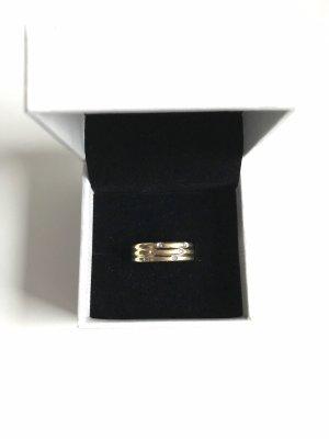 Gouden ring goud-wit