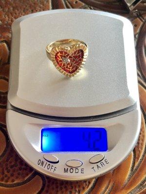 585 Gold wunderschöner Herzring