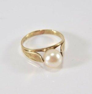 585er Gold Ring  Perle goldring Juwelierstück