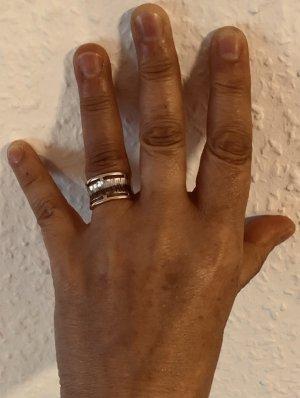 586 Gold Ring mit Weißgold und geschwärztem Dekor