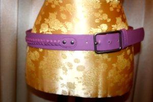 Pieces Cinturón trenzado púrpura