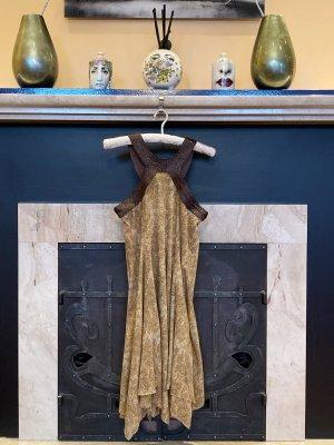 599€ Ralph Lauren RL Luxus Kleid, Leopard Muster, mit Leder, Gr. L (M XL 38 40 42)