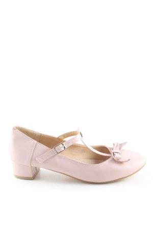 59Seconds Zapatos de tacón con barra en T rosa look casual