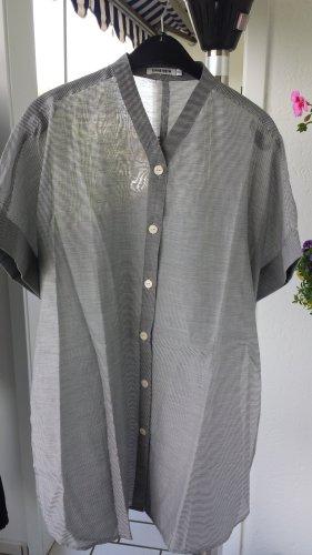 5 Preview Bluzka kimono srebrny-biały Bawełna