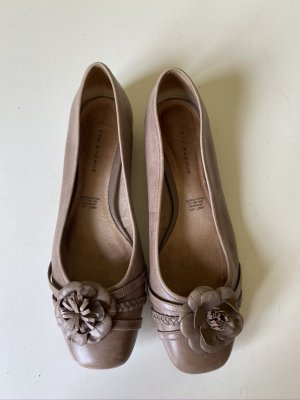 5th Avenue Slingback Ballerinas light brown leather