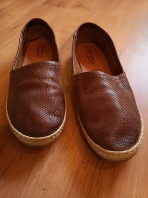 5th Avenue, Espadrilles, Slipper, Braun, Leder, Größe 40