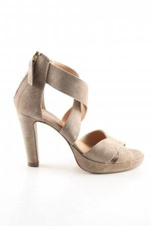 5th Avenue High Heel Sandaletten creme Casual-Look