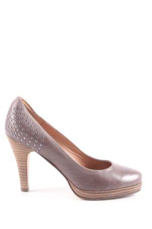5th Avenue Hoge hakken bruin-zilver gestippeld patroon zakelijke stijl