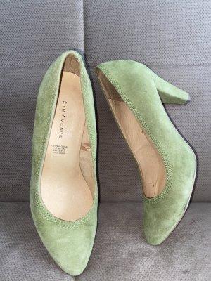 5th Avenue Zapato Tacón verde claro