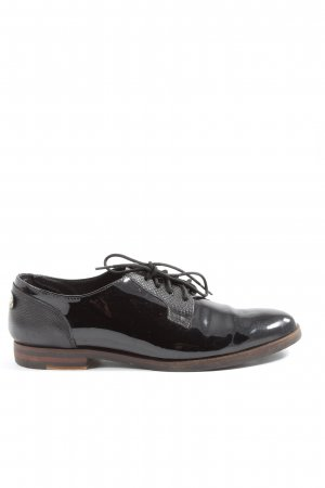 5th Avenue Oxfords black-gold-colored animal pattern casual look
