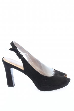 5th Avenue Peep Toe Pumps zwart casual uitstraling