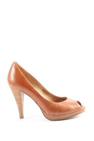 5th Avenue Peep Toe Pumps bruin casual uitstraling