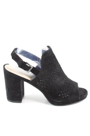 5th Avenue Peep Toe Pumps zwart zakelijke stijl