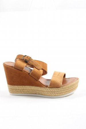 5th Avenue Plateauzool sandalen bruin casual uitstraling
