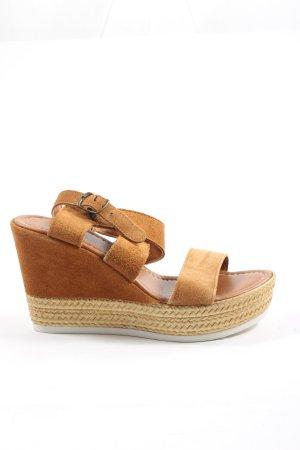 5th Avenue Platform Sandals brown casual look
