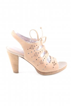 5th Avenue Plateauzool sandalen nude casual uitstraling