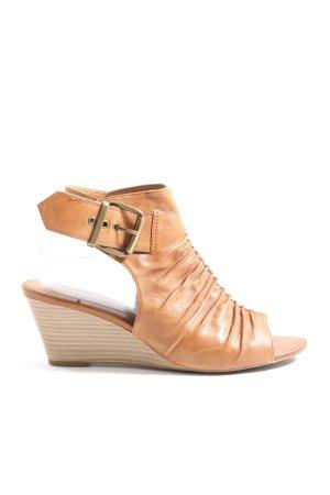 5th Avenue Sandały na platformie brązowy W stylu casual