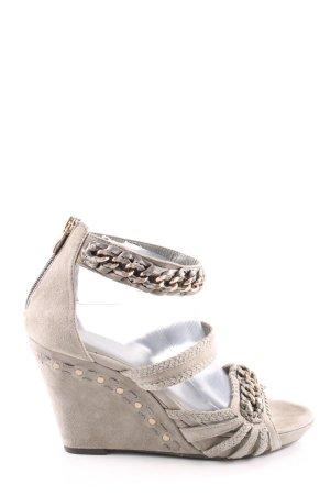 5th Avenue Sandalo con plateau bianco sporco-grigio chiaro stile casual