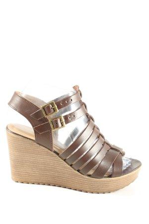 5th Avenue Platform High-Heeled Sandal brown casual look