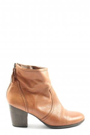 5th Avenue Zipper Booties brown business style