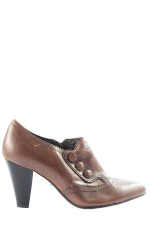 5th Avenue Reißverschluss-Stiefeletten braun Casual-Look