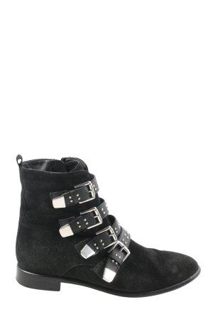 5th Avenue Reißverschluss-Stiefeletten schwarz-silberfarben Casual-Look
