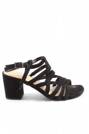 5th Avenue Strapped High-Heeled Sandals black casual look