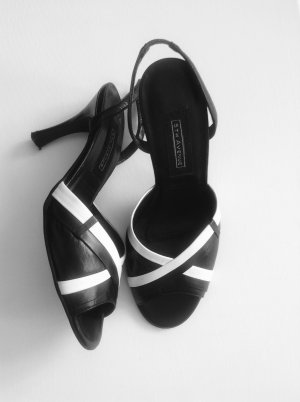 5th Avenue Sandales à talon haut noir-blanc