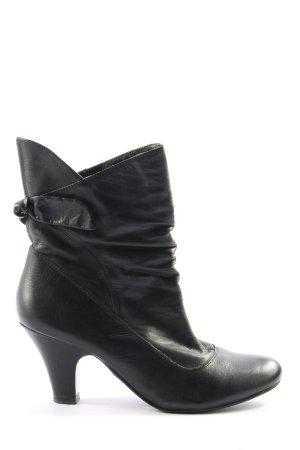 5th Avenue Slip-on Booties black casual look