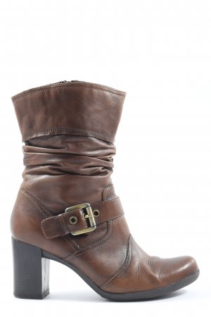5th Avenue Slip-on Booties brown-black casual look