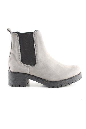 5th Avenue Slip-on Booties light grey-black casual look