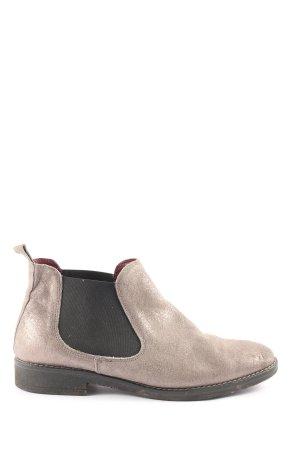 5th Avenue Schlüpf-Stiefeletten silberfarben-schwarz Casual-Look