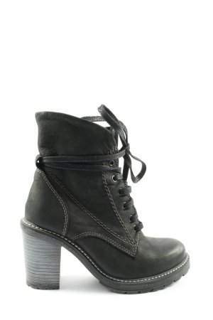 5th Avenue Lace-up Booties light grey-black casual look