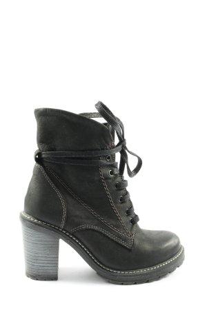 5th Avenue Patucos con cordones gris claro-negro look casual