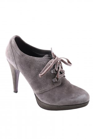 5th Avenue Lace-up Booties light grey business style