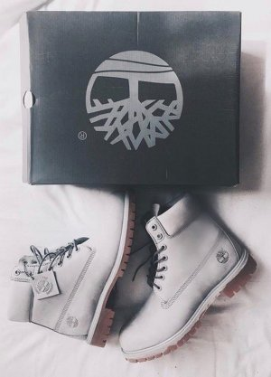 Timberland Combat Boots light grey-grey leather