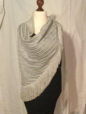 Chal gris claro-color plata