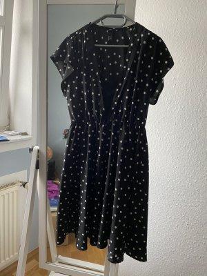 H&M Sukienka z halką czarny-biały