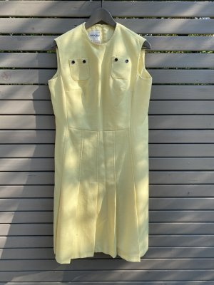 60ger Jahre Vintage Etui Sommerkleid in Pastell Gelb