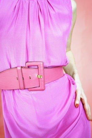 60s-/70s-Design: Pinker Taillengürtel aus Echtleder in Gr. 75