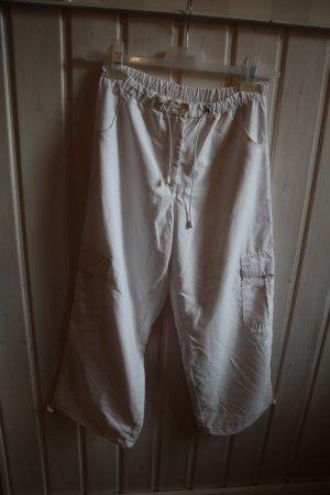 Maxime Pantalon cargo blanc polyester
