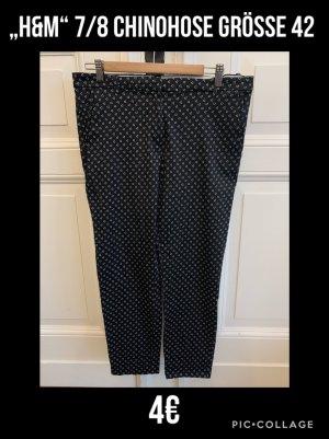 H&M Pantalone chino nero-bianco