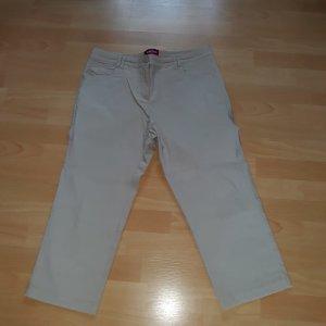 Biaggini 7/8 Length Trousers oatmeal viscose