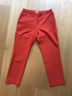 H&M Spodnie 7/8 pomarańczowy-pomarańczowy neonowy