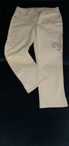 Apart Spodnie 7/8 kremowy