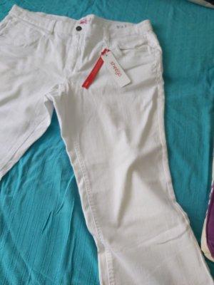 Sheego Pantalone Capri bianco